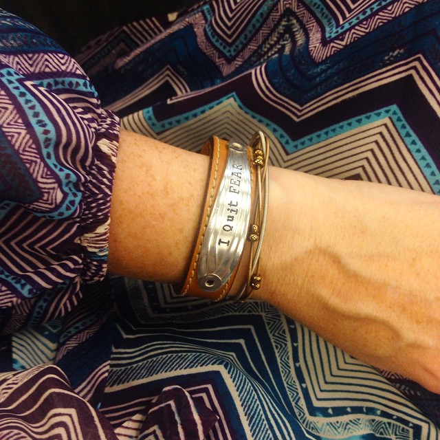 i quit fear bracelet cropped